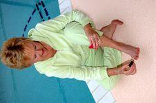 Free Senior Woman Pedicure Royalty Free Stock Photos - 1823938