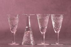 Free Four Vine-glasses Stock Image - 1824411