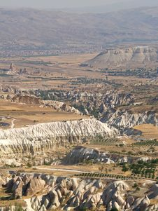 Sandstone Formations In Cappadocia Royalty Free Stock Photo