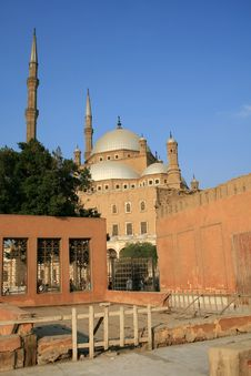 Deep View Of Mosque At Cairo Citadel Royalty Free Stock Photography