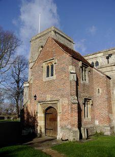 MedievalChurch Entrance Stock Images