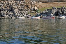 Aswan (Egypt) - Fishing Boats In The River Nile