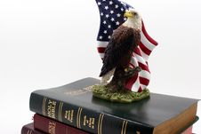Free Eagle On Three Bibles Royalty Free Stock Image - 1826136