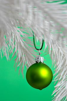 Christmas Ball Hanging Royalty Free Stock Images