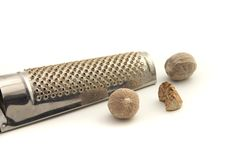 Nutmeg And Grater Royalty Free Stock Photos