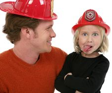 Free Little Fire Fighter Stock Photography - 1828232