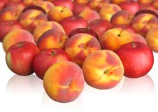Free Peaches And Apples On Light Background Royalty Free Stock Photography - 1828807