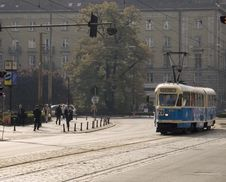 Free Poland Wroclaw Tram Stock Photography - 1829402