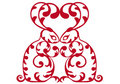 Free Ornamental Red Rabbits Royalty Free Stock Photo - 18201315