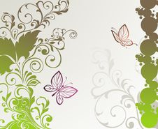 Free Spring Card  With Butterfly Stock Photo - 18200100