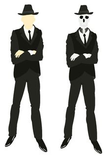 Free Persons And Skeleton In Suit And Tie Royalty Free Stock Images - 18200219