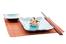Traditional Japanese Seafood Tableware Set Stock Photo