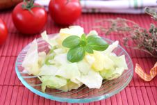 Fresh Salad Of Cabbage Royalty Free Stock Photography