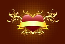 Free Heart Shape With Banner Stock Photo - 18201280