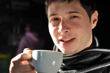 Free Man Having Coffee Stock Image - 18201561