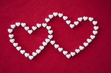 Entwined Hearts Of Candy Royalty Free Stock Images