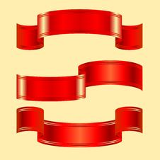 Free Vector Set Of Red Bands On A Blue Background Royalty Free Stock Image - 18202056