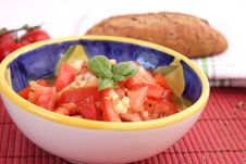Free A Fresh Salad Of Tomatoes Stock Photography - 18202602