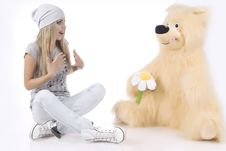 Free Emotional, Glamour Girl With A Toy Stock Photos - 18202633
