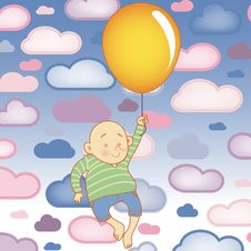 Free Young Child Boy With Balloon Royalty Free Stock Image - 18202716