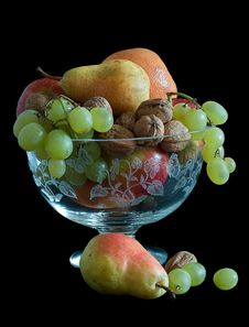 Free Autumn Fruits In Crystal Bowl Still-life Stock Photos - 18203673