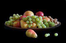 Free Autumn Fruits In Teak Wood Tray Stock Photos - 18203873