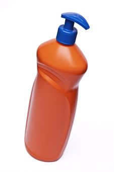 Free Orange Plastic Bottle Royalty Free Stock Photo - 18203905