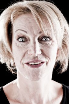 Mature Actress On Stage Stock Photos