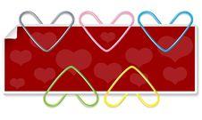 Free Clipped Hearts Set Stock Photo - 18204310