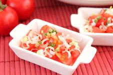 Free A Fresh Salad Of Tomatoes Stock Image - 18204411