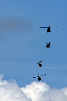 Free Helicopter Squadron Stock Photography - 18205032