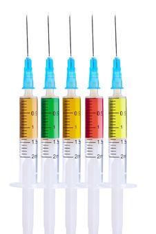 Free Medical Syringe Royalty Free Stock Photography - 18205117