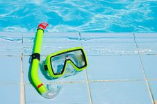 Mask For A Swimming At Pool Royalty Free Stock Photo
