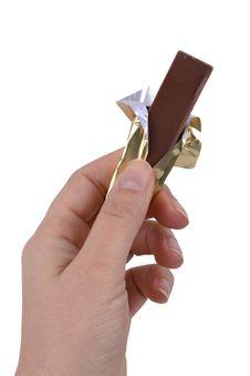 Free Hand Holding Chocolate Stock Photos - 18205463