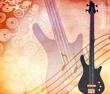 Free Grunge Style Background With Guitar Stock Image - 18205561