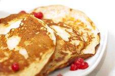Free Tasty Pancakes With A Syrup Royalty Free Stock Photos - 18205568