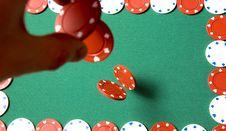 Free Gambling Chips Falling Royalty Free Stock Images - 18206329
