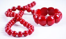 Free Red Beads And Bracelet Stock Photos - 18206553