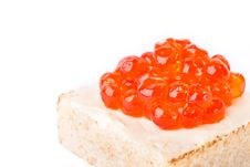 Free Canape With Salmon Caviar Stock Photo - 18207040