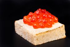 Free Canape With Salmon Caviar Royalty Free Stock Image - 18207076