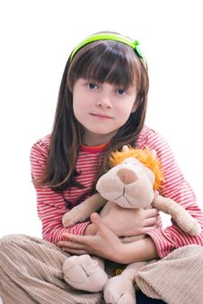 Free Girl With Soft Toy Stock Photography - 18207412