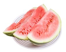 Free Three Portions Of Water-melon Royalty Free Stock Image - 18208196