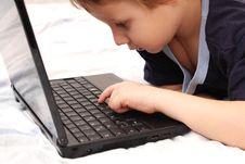 Free Little Boy On Laptop Stock Photos - 18208533