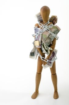 Free Prisoner Of Money Stock Images - 18208864