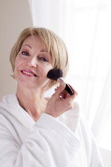 Mature Woman Making Up Stock Photo