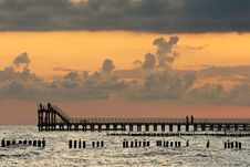 Free Pier At Dawn. Stock Images - 18209144