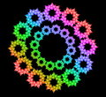 Free Abstract Rainbow Circle Of Flowers Royalty Free Stock Images - 18211029