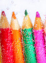 Free Colorful Pencils And Bubbles Royalty Free Stock Photos - 18213598