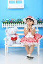Free Girl And Bear Stock Photography - 18214862
