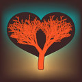 Free Tree Of Love With Hearts. EPS 8 Royalty Free Stock Images - 18215059